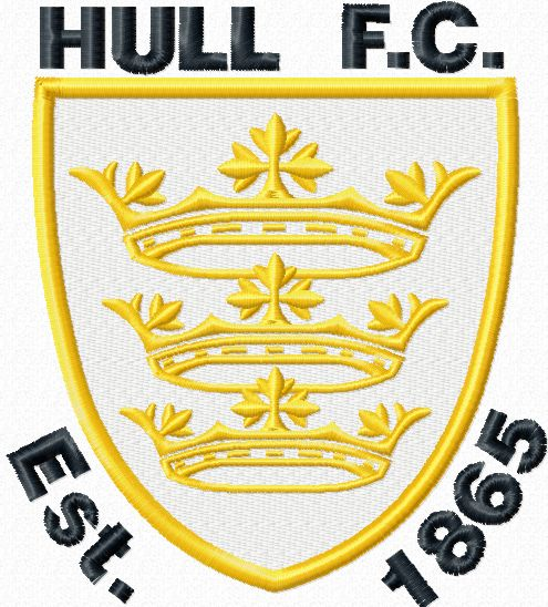Hull City AFC logo machine embroidery design