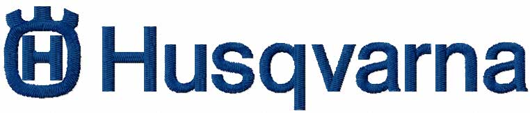 Husqvarna logo embroidery design