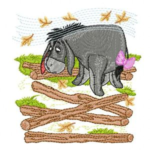 Eeyore machine embroidery design 2