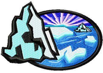 Iceberg free machine embroidery design