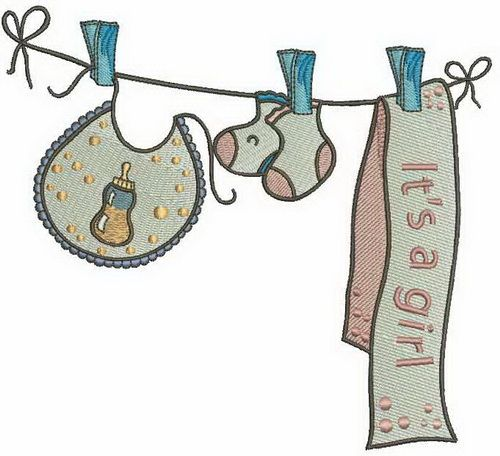 It's a girl machine embroidery design 4