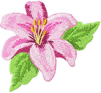 Orchid free machine embroidery design