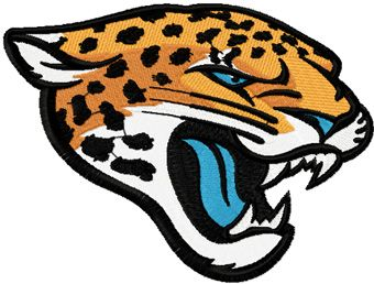 Jacksonville Jaguars Primary Logo 2013 machine embroidery design