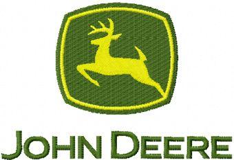 John Deere logo embroidery design