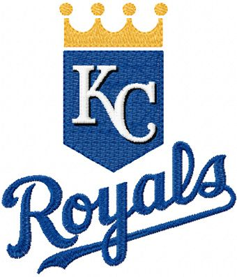 Kansas City Royals logo machine embroidery design