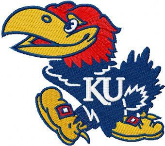 Kansas Jayhawks machine embroidery design
