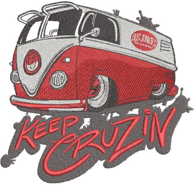Keep cruzin embroidery design
