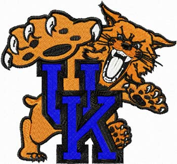 Kentucky Wallmarx logo machine embroidery design