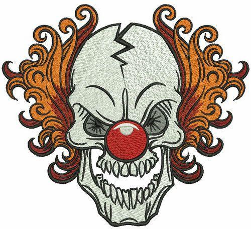 Killer Clown embroidery design