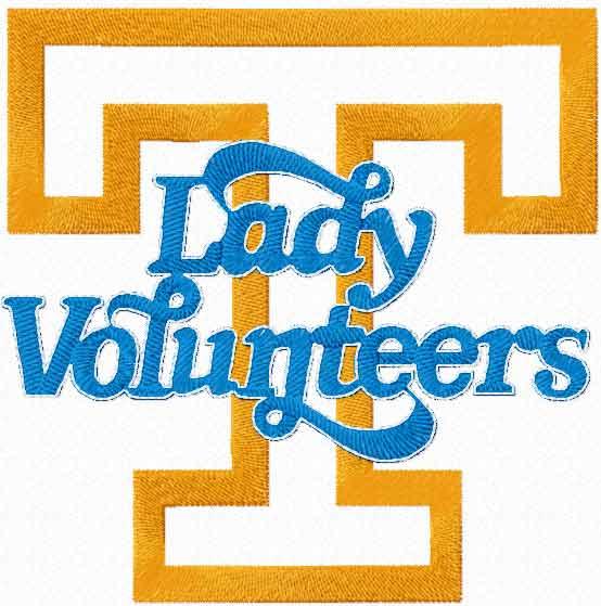 Lady Volunteers logo machine embroidery design
