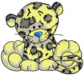 Leo machine embroidery design
