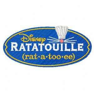 Ratatouille Logo embroidery design