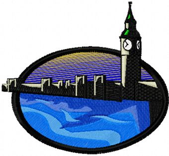 London free machine embroidery design