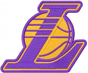 Los Angeles Lakers alternative logo machine embroidery design