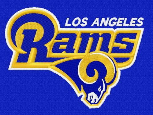 Los Angeles Rams Logo Machine Embroidery Design