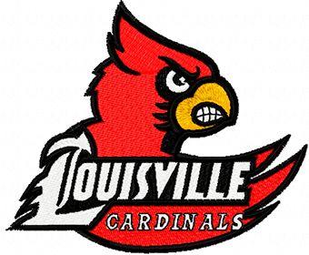 Louisville Cardinals logo machine embroidery design