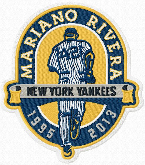 Mariano Rivera New York Yankees patch machine embroidery design