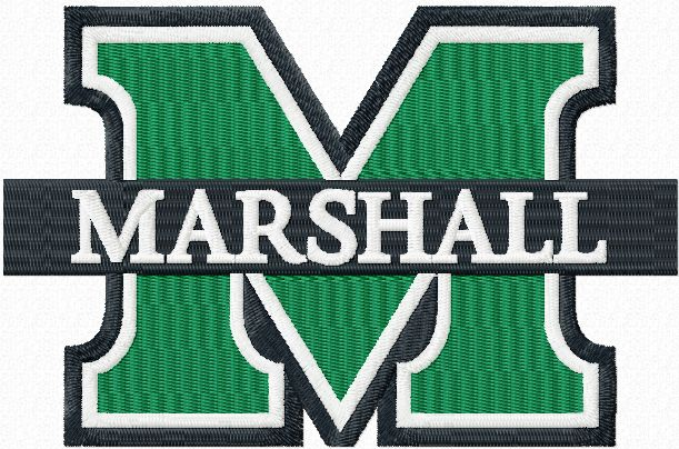 Marshall University logo embroidery design