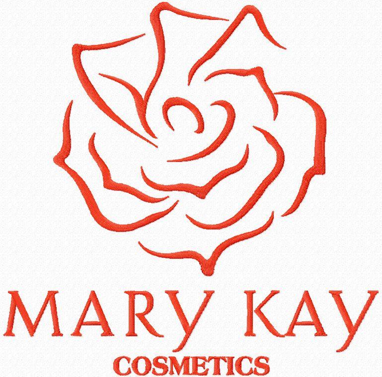 Mary Kay cosmetics logo machine embroidery design