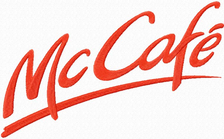 McCaf? logo machine embroidery design