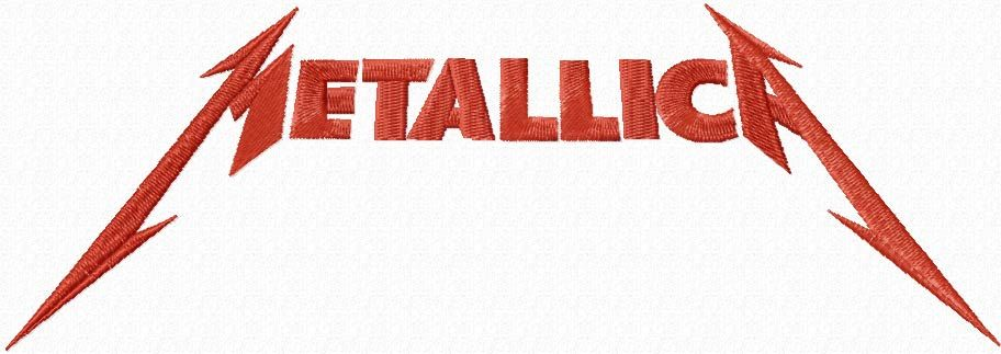 Metallica music band logo embroidery design