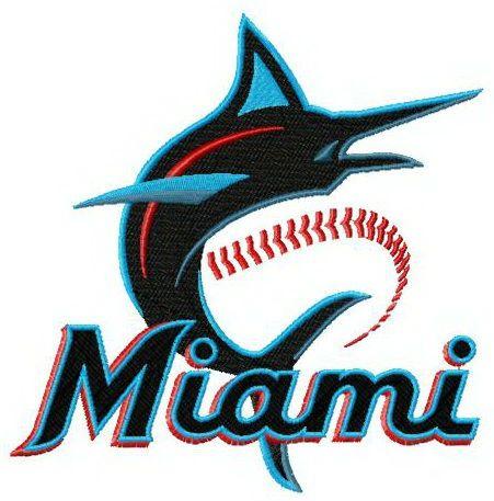 Miami Marlins 2019 logo embroidery design