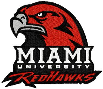 Miami University logo machine embroidery design