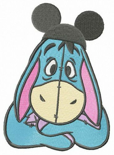 Mickey hat for Eeyore embroidery design