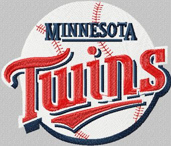 Minnesota Twins logo machine embroidery design