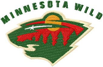 Minnesota Wild logo machine embroidery design
