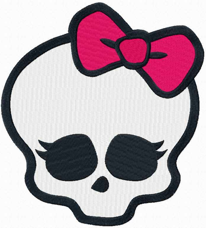 Monster High logo 2 machine embroidery design
