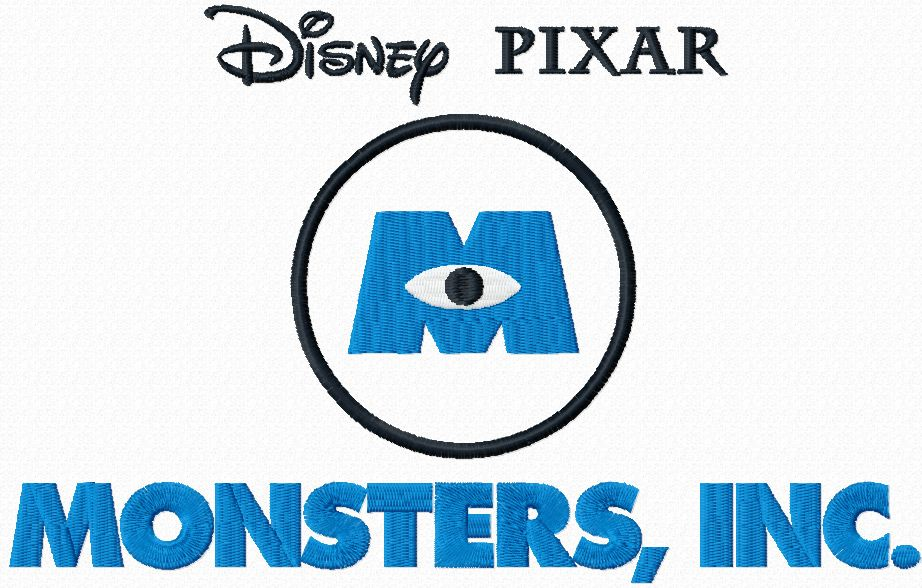 Monster Inc logo machine embroidery design