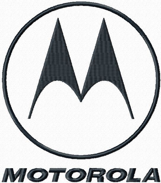 Motorola logo machine embroidery design