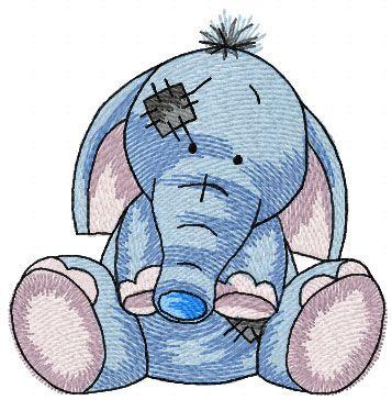 My cute elephant machine embroidery design