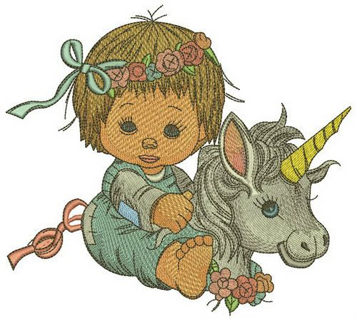 My little unicorn embroidery design