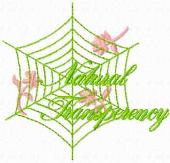 Natural Transparency free machine embroidery design