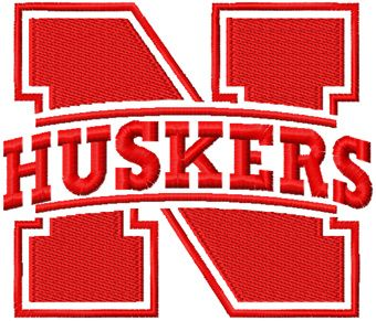 Nebraska Cornhuskers Primary logo machine embroidery design