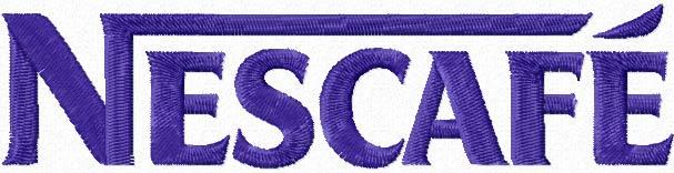 Nescafe logo machine embroidery design