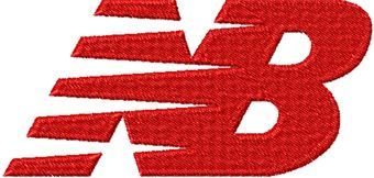 New Balance logo machine embroidery design