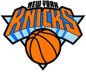 NY Knicks logo machine embroidery design