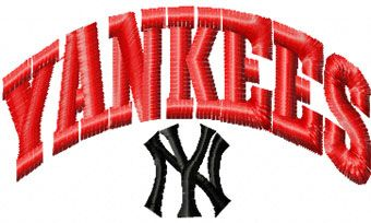 New York Yankees logo embroidery design 3