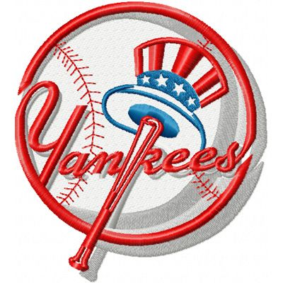 New York Yankees logo embroidery design 2