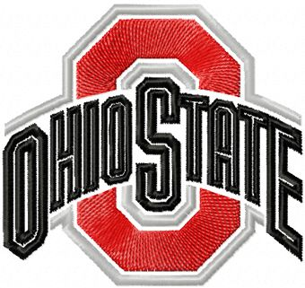 Ohio State Buckeyes Logo embroidery design