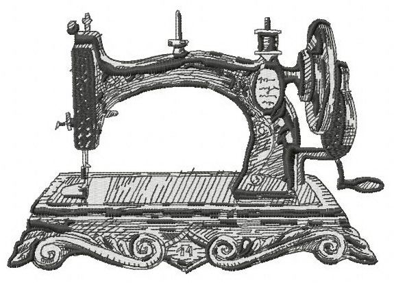 Old Sewing Machine Machine Embroidery Design