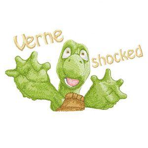 Verne machine embroidery design