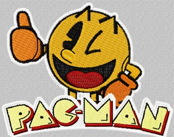 Pac-Man machine embroidery design