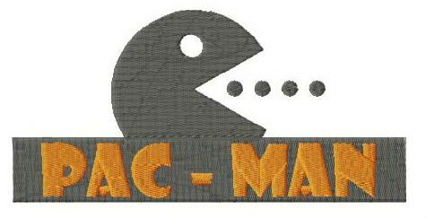 Pac-Man logo embroidery design