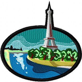 Paris free machine embroidery design