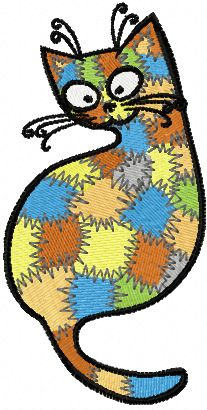 Patches Kitty embroidery design