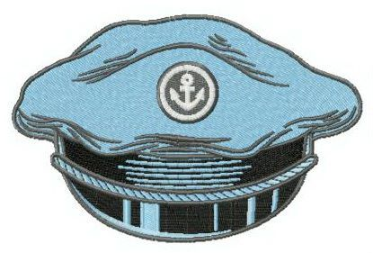 Peaked cap embroidery design